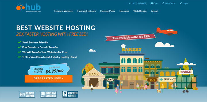 Click to visit Hub Web hosting.